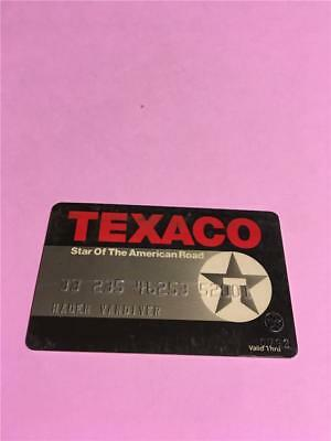 Vtg Boss Texaco Star Of The American National Credit Card Collectors Advertising