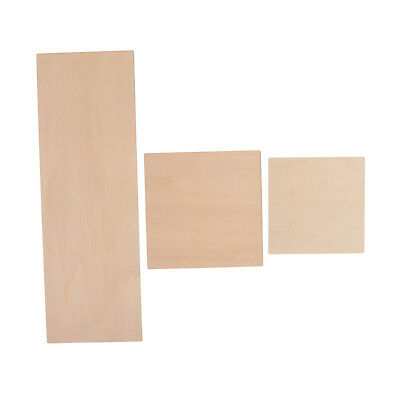 Wooden Square / Rectangle Coaster Plain Wood Craft Blank Plaque DIY Woodwork