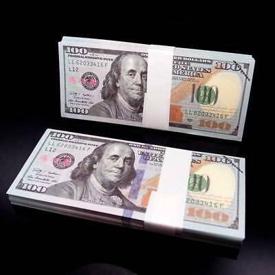 1 5 50 10 Prop Money Full Print Stack Banknote For Movie TV