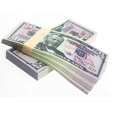 Prop Money Full Print Stack for Movie TV Video Novelty Photography 20PCS 50$ New