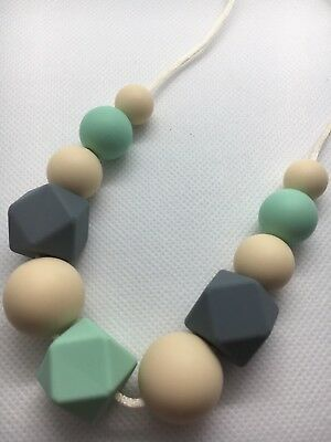 Silicone Sensory (was teething) Necklace for Mum Jewellery Beads Aus Sale gift