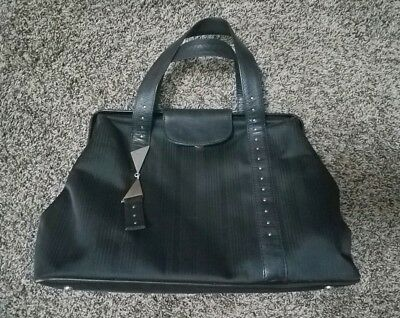 8cf800ca5fa Very Rare unique Vintage Gianni Versace Nylon Handbag Clamshell Style Open  Purse