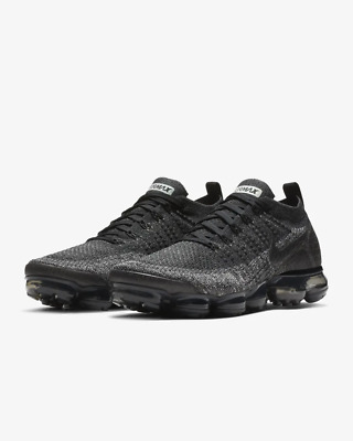 NIKE AIR VaporMax Flyknit 2.0 2018  MEN Black and White Fabrics Running Trainers