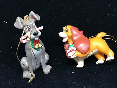 Disney's Lady and the Tramp  Resin Christmas Ornaments