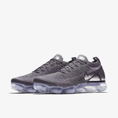 NIKE AIR VaporMax Flyknit 2.0 2018  MEN Grey and White Running Trainers Shoes