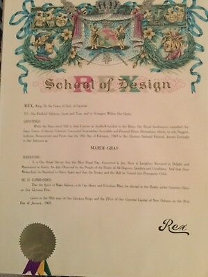 1969 Krewe Of Rex Proclamation - Mardi Gras Paper Favor