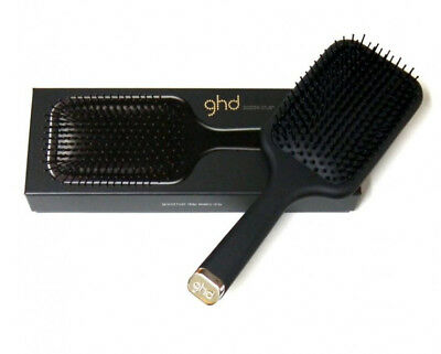 GHD Paddle Hairbrush Black Anti Static Hair Detangling Brush Brand New In Box
