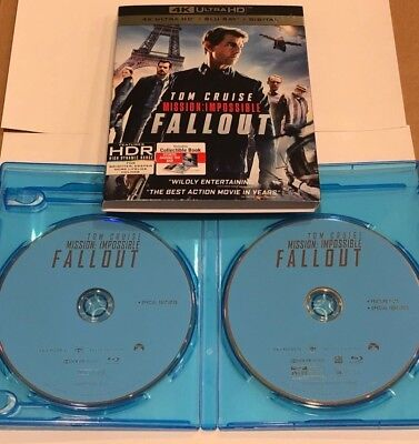 Mission: Impossible Fallout (Blu-ray Discs ONLY + SLIPCOVER/BLANK CASE) SEE INFO