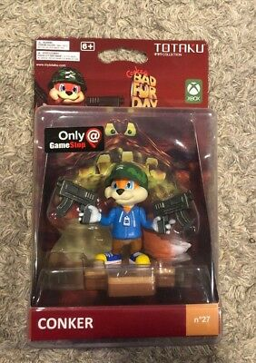 Totaku Collection No 27 Exclusive Conker's Bad Fur Day Conker Action Figure NEW