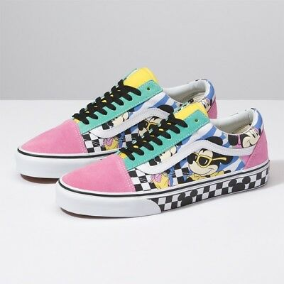 7f610ab089 New VANS x Disney Mickey Mouse Old Skool Skate Sneakers Shoes(VN0A38G1UJE)