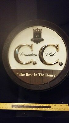 Canadian Club wall sign collectible Made in USA by THOMAS A SCHUTZ Company Inc