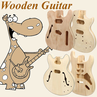 Electric Guitar Body DIY Solid Mahogany Wood Unfinished Guitar Parts Handcraft