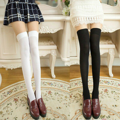 Women Girls Thigh High Over Knee Socks Anti Skid Hosiery Stockings Long Stretch