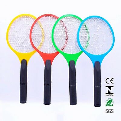 1 PC Bug Zapper Electric Tennis Racket Mosquito Fly Swatter Insect Killer AU
