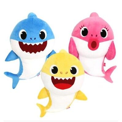 New Pinkfong Family Shark Korean Song Sound Plush Doll Toys - Baby/Mommy/Daddy