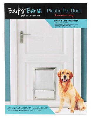 Extreme Weather Pet Dog Door Self Locking Exterior Entry Large Removable Flap