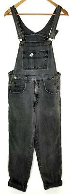 Vintage Guess Marciano Mens L Denim Jeans Overalls 34 36 x 32 USA Black Gray 80s