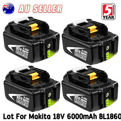 18V 6.0AH Battery For Makita LXT400 BL1850 BL1830 BL1860 Lithium Ion Cordless AU