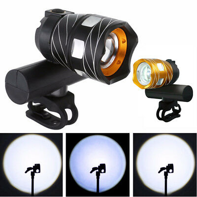 USB Rechargeable T6 LED Bicycle Bike Front Lamp Cycling Head Light Torch 3 Modes