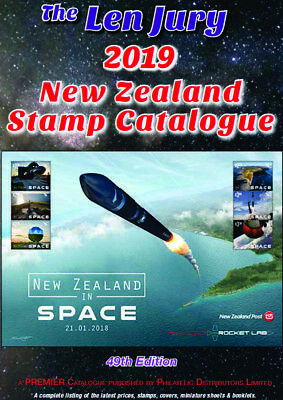 LEN JURY 2019 NEW ZEALAND STAMP CATALOGUE 1855 - 2019 COLOUR 49th EDITION *NEW**
