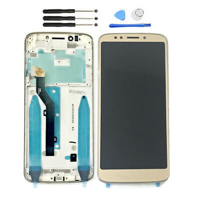 GOLD FOR MOTOROLA Moto G6 Play XT1922 LCD Display Touch Screen Digitizer  Frame