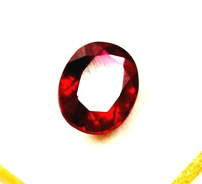 GGL Certified Natural Red Ruby 7.60 Ct Oval Cut Mozambique Gem New Year Offer
