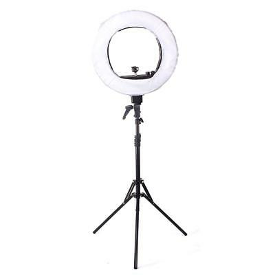 "18"" 5500K Fluorescent Dimmable Photo Video Ring Light Kit Stand Carry Bag *B#d"
