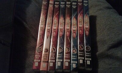 8 X DOCTOR WHO DVD'S REG 2 ALL WITH DAVID TENNANT series 3 & 4