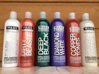 Full range of Wahl Shampoo's for dogs and horses 500ml