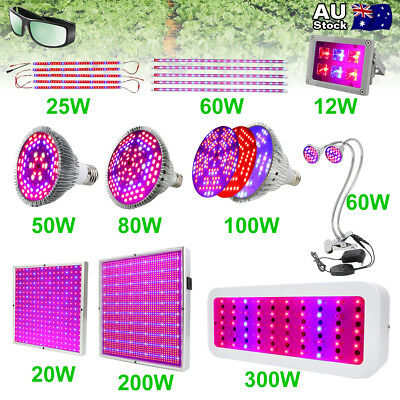 50W/80W/100W/200W/300W Full Spectrum LED Grow Light Panel Veg Lamp Plant Bulb AU