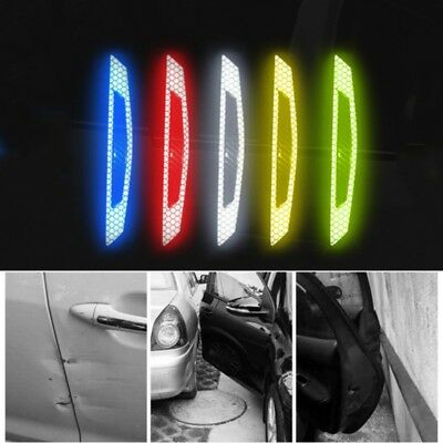 4pcs Car Truck Anti-collision Strip Reflective Tape Decal Safety Warning Sticker