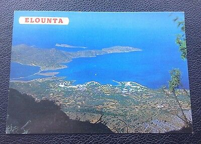 Postcard: Elounta: Crete: Posted: Post Date On Card Is 1988?