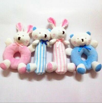 1 Pc Animal Cottorn Multi shape Soft Baby Kids Toy Infant Foot Hand Wrist