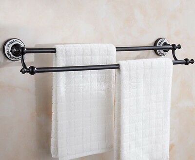 Signature Hardware Colvin Double Swing Arm Towel Bar In Oil Rubbed