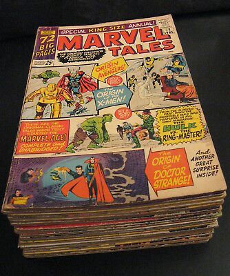 BIG LOT of *19* 25¢ Giant Early Spider-man MARVEL TALES #2-14,17-19,22,30,31 VG+