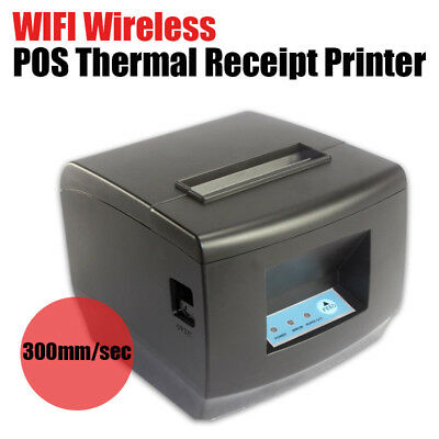 Wireless USB WIFI ESC/POS Thermal Cash Receipt Auto Cutter Printer 80mm Market