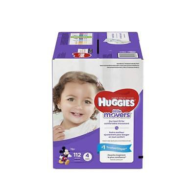 HUGGIES LITTLE MOVERS Diapers, Size 4 (22-37 lb.), 112 Ct., GIANT PACK...