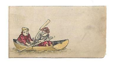 Rowboat Boys Using Oars No Advertising Vict Card c1880s