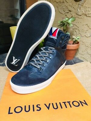1cb9b3a47230 Auth Louis Vuitton Mens Shoes Sneakers Boot Winter Us Size 8 Made In Italy