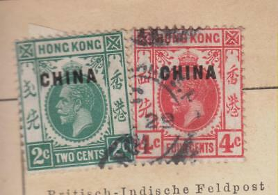Mk110   Old British Post Office In China Stamps From Schaubek Album