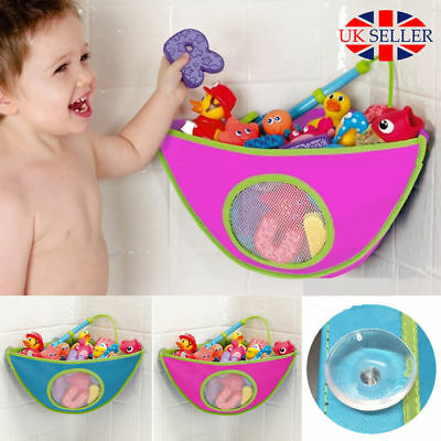 Kid Baby Bath Toy Tidy Organiser Mesh Net Storage Bag Rose Red Play Pouch Holder