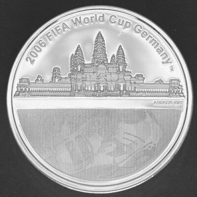 3000 Riels Proof Cambodia 2004 'FiFa World Cup' Silver coin