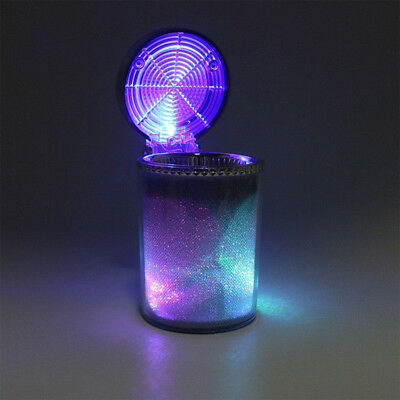 Bling Cigarette Ash Cup Auto Portable Car Holder Ashtray with LED Light Travel