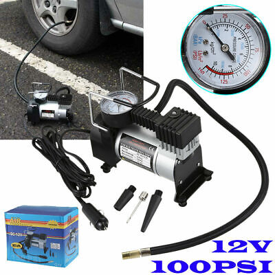 Heavy Duty 12v Car Air Compressor 100PSI Tyre Deflator Portable Inflator Pump UK