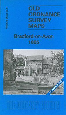 Old Ordnance Survey Map Bradford On Avon 1885 Coloured Edition