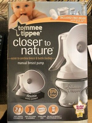Tommee Tippee Closer To Nature Manual Breast Pump BPA Free