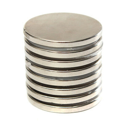 10Pcs 30X3Mm N52 Round Super Strong Neodymium Magnets Disc Rare Earth Smart