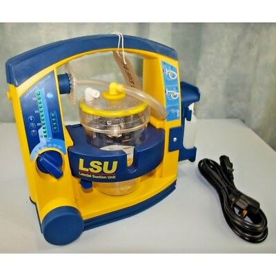 Laerdal Suction Unit LSU with Patient Canister, NEW battery & Mains lead.