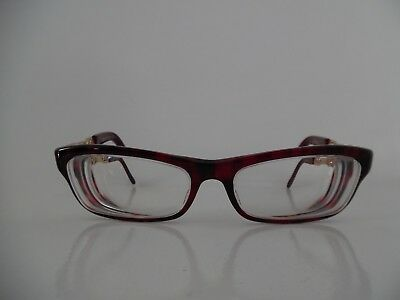 c9b48f662881 Ladies Jimmy Choo Marbled Blood Red   Gold Oval Eye Glasses JC85 8RO 135  Italy
