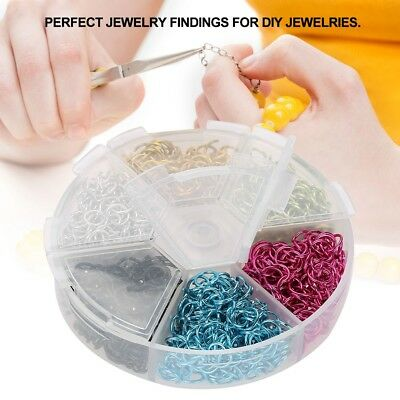 1080Pcs/Box Open Jump Ring Split Rings Connectors Jewelry DIY Making 6 Colors